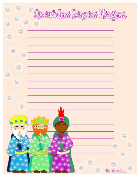 hojas de carta de los reyes magos para imprimir infantil y para ni 209 os