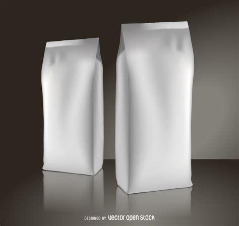 Office Set Design Coffee Packaging Mockup Free Vector