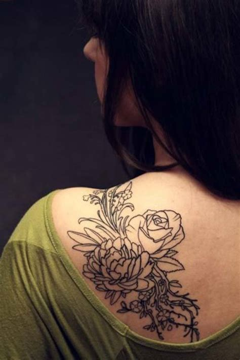 flower shoulder tattoo designs for women