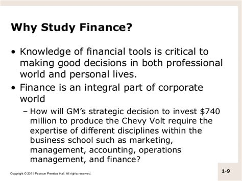 Why Study Mba Finance by M01 Titman 2544318 11 Fin Mgt C01