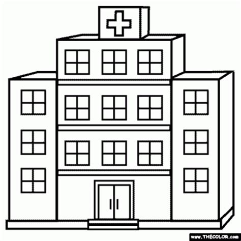 Hospital Coloring Pages hospital clipart clipartaz free clipart collection