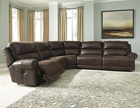 5 piece leather sectional sofa ashley signature design luttrell 5 piece faux leather