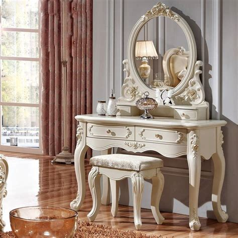 luxury style pricess dresser makeup dressing table with mirror vanity set vanity