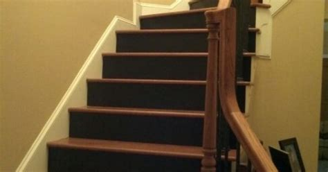 Staircases stair risers painted black for the home pinterest