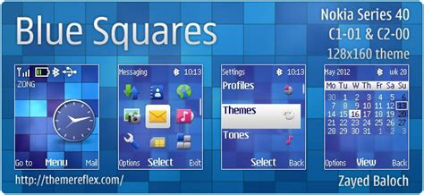 themes nokia 2690 themes blue squares theme for nokia c1 01 c2 00 2690 128 215 160