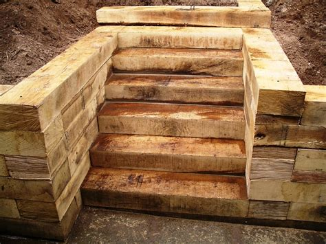 How To Build Steps With Railway Sleepers colinporter railway sleeper steps