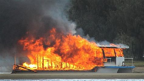 houseboat fire man in his 60s left homeless after houseboat explodes into