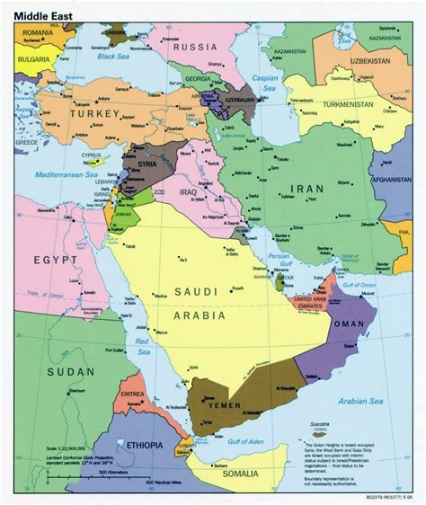 map mideast capitals detailed political map of the middle east with capitals