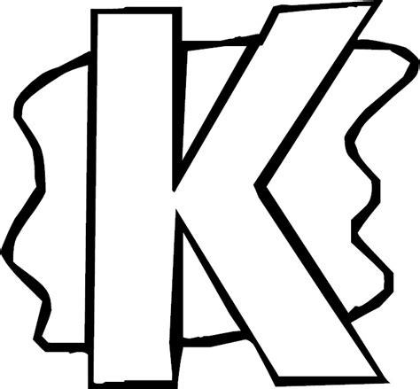 free coloring pages of capital letter k