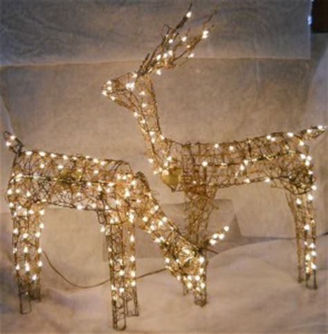grapevine animated lighted deer grapevine animated feed doe buck reindeer light up yard decorations ebay