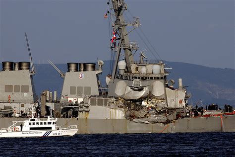 Navy Search Search On For 7 Navy Crew After Ship Damaged In Collision