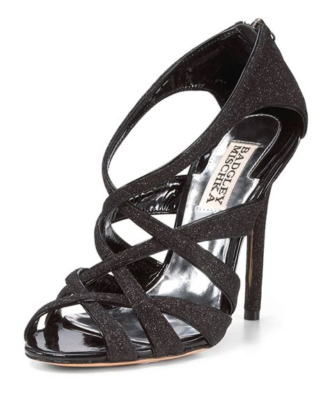 Sandal Glitter lyst badgley mischka glitter sandal in black