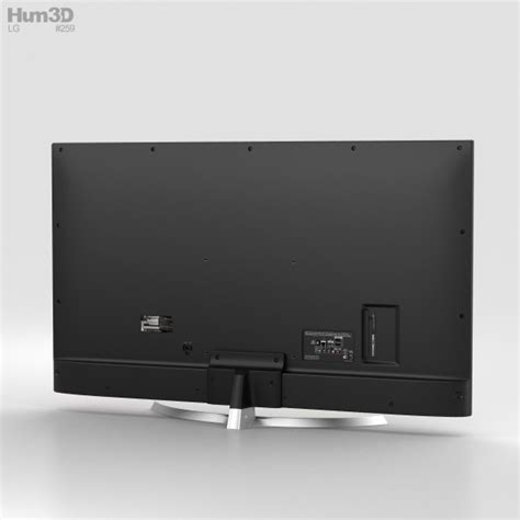 55 Tv 3d lg 55 ultra hd 4k tv 55uj701v 3d model hum3d
