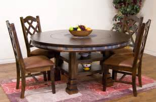 lazy susan dining room table sunny designs dining room santa fe 60 inches round table