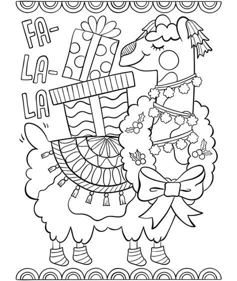 llama coloring pages fa la la llama coloring page crayola