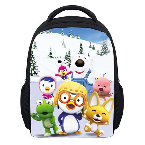 Bag Korea Po G3274who 600d polester korean pororo backpack 3d printing kindergarten school backpack in