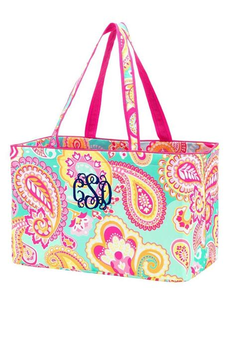 wholesale boutique monogrammed paisley tote  richmond