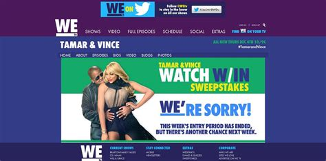 We Tv Sweepstakes - wetv tamar and vince watch win sweepstakes secret code