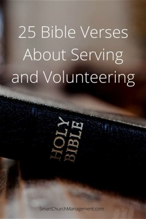 25 bible verses about serving and volunteering — smart