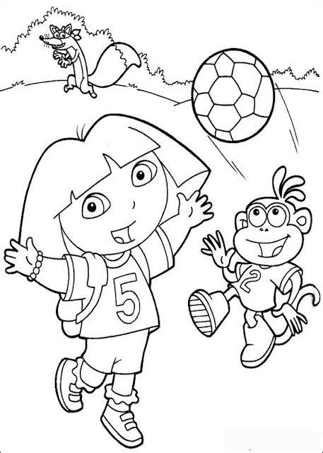 Gambar mewarna - Dora the Explorer - Gambar Mewarna