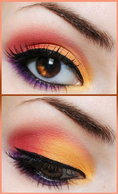 Eyeshadow Orange 220 ber 1 000 ideen zu tropical makeup auf blumen make up augen make up und make up