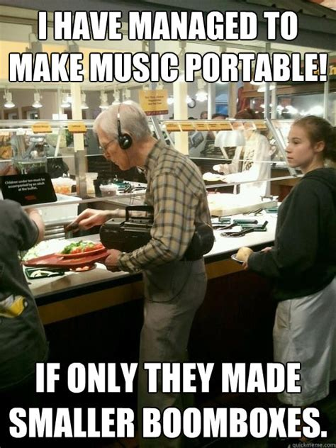 Make A Quick Meme - i have managed to make music portable if only they made