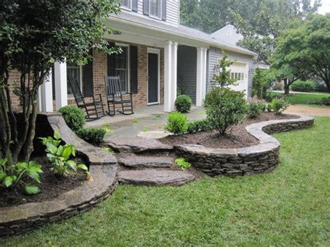 Corner Bench And Shelf Entryway Front Porch Landscaping This Landscaping Design Extends