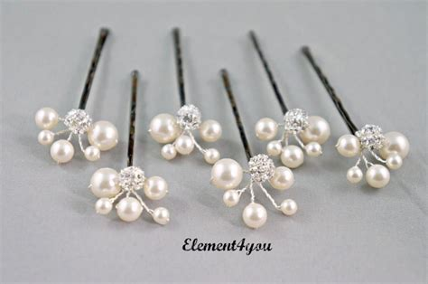 Wedding Accessories For Bridesmaids by Bridal Ivory Hair Pins Wedding Accessories Bridesmaid