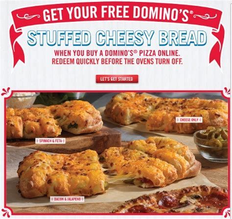 Dominos Giveaway On Quikly - act fast free domino s stuffed cheesy bread addictedtosaving com