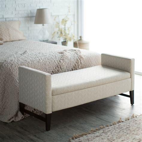 benches for the bedroom bout de lit coffre un meuble de rangement astucieux