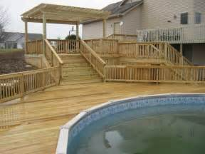 pool deck have archadeck of ft wayne build your pool deck