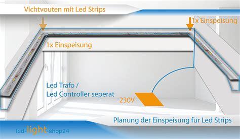 raumbeleuchtung led lichtvouten mit led strips bauen und planen
