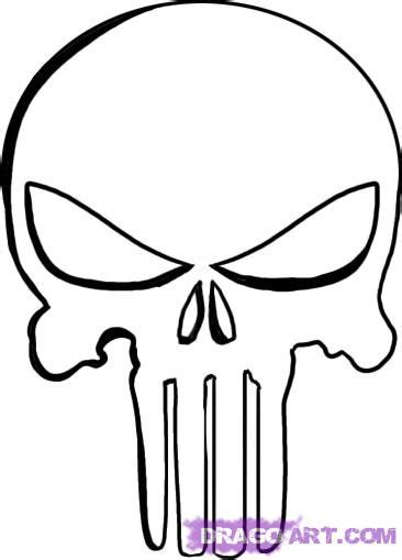 punisher template how to draw the punisher skull step by step marvel