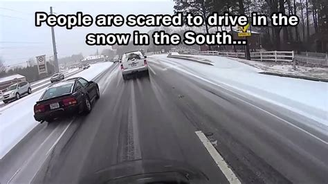 Driving In Snow Meme - driving in the snow the north versus the south youtube