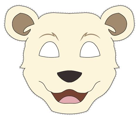 free polar bear mask coloring pages