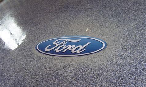 Polyaspartic Garage Floor Inlays   Company Logos, Sports