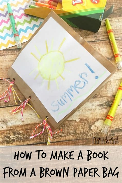 How To Make Book Cover From Paper Bag - how to make a paper bag book for
