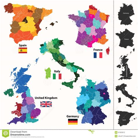 country map vector european countries maps stock vector image 51063612