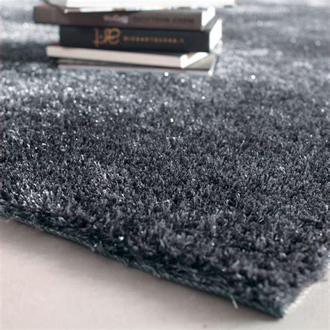 tappeto grigio tappeto grigio in tessuto a pelo lungo 200 x 300 cm