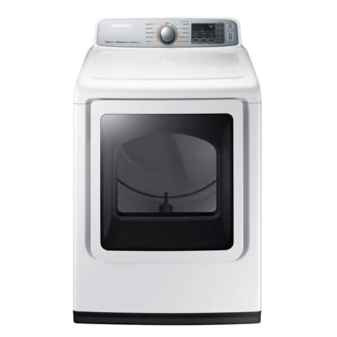 samsung dryer samsung 7 4 cu ft electric dryer with steam in white dve50m7450w the home depot