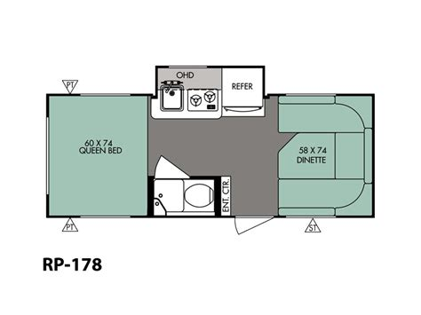 r pod cer floor plans 2016 forest river r pod rp 178 stock rpt16008 uneek rv