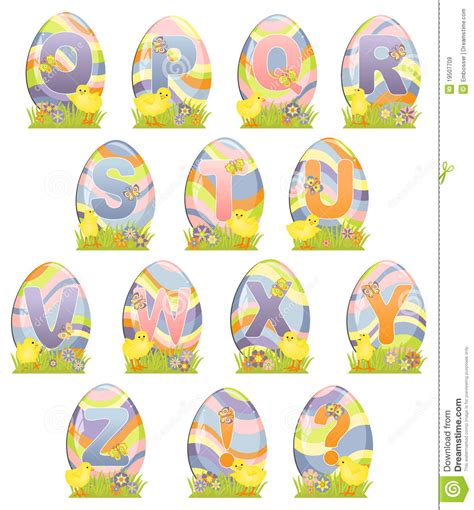 printable easter alphabet letters cute easter alphabet royalty free stock images image