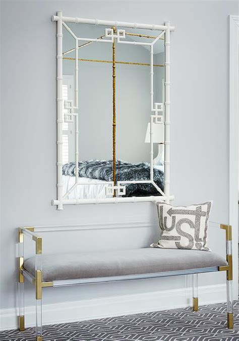 gold and gray bedroom bench interior design inspiration photos by amie corley interiors