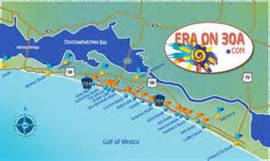 map of towns along scenic 30a south walton real