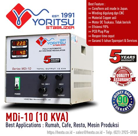 Yoritsu Stabilizer Digital 7 5 Kva effisiensi stabilizer yoritsu pabrik stabilizer trafo