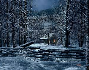 Pin snow cabin christmas tree lights pines winter 1366x768 288490 deer