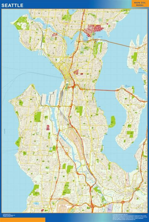 america map seattle seattle vector map eps illustrator vector city maps usa