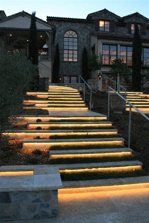 Fabulous Landscape Lighting Ideas With Exterior Stone Outdoor Lighting For Steps