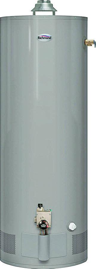richmond self cleaning water heater rheem richmond 6g40 32pf1 lp gas water heater 40 gal 6yr
