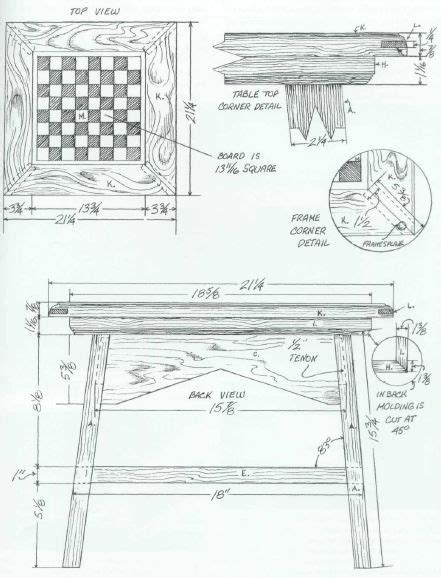 chess table woodworking plans woodworking plan for chess table complete woodworking